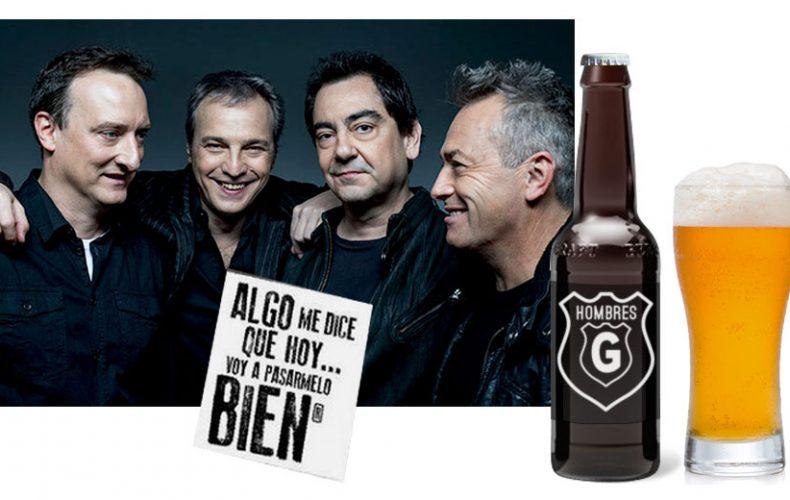 Presentación de la cerveza de los Hombres G
