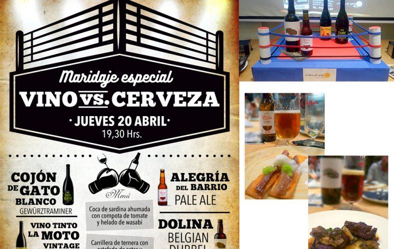 Combate Vino VS Cerveza Artesana en Restaurante Chantarella