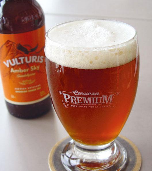 Cerveza Artesana vulturis amber sky