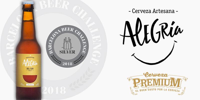 Cerveza Alegría, tercer año consecutivo con medalla en el Barcelona Beer Challenge