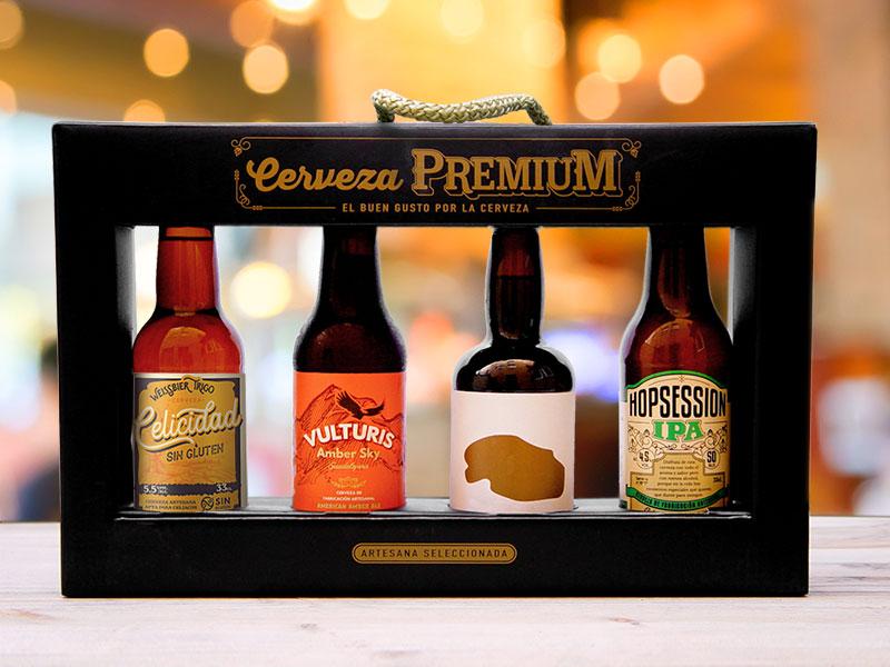 estuche regalo cervezas artesanas